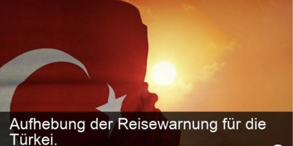 Aufhebung Reisewarnung Türkei